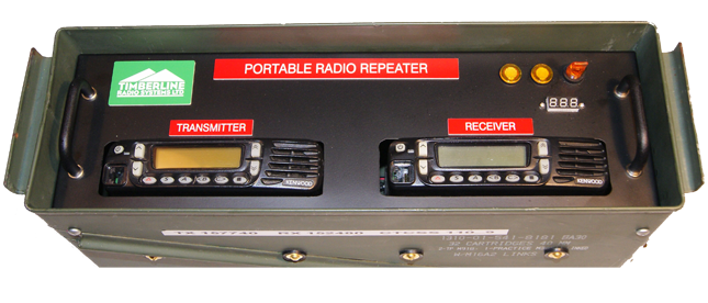 Portable Kenwood VHF Repeater - Back to back